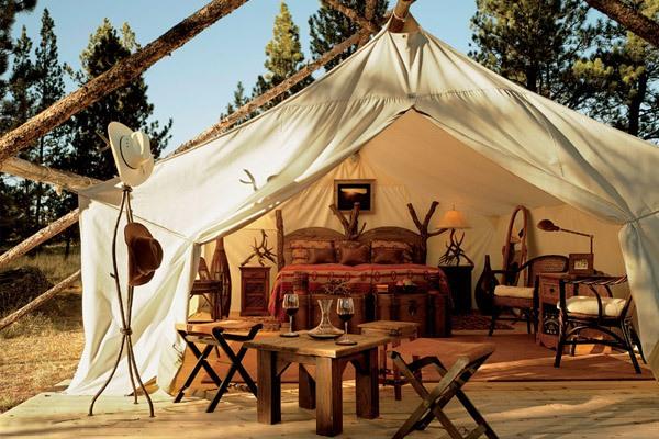 Luna de miel en un rancho de lujo tienda_campaña_5_600x400