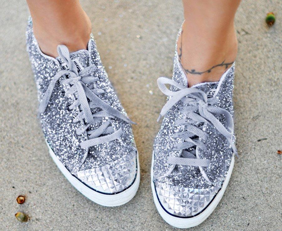 6b0b9c159402 Diy zapatillas glitter 2 ...
