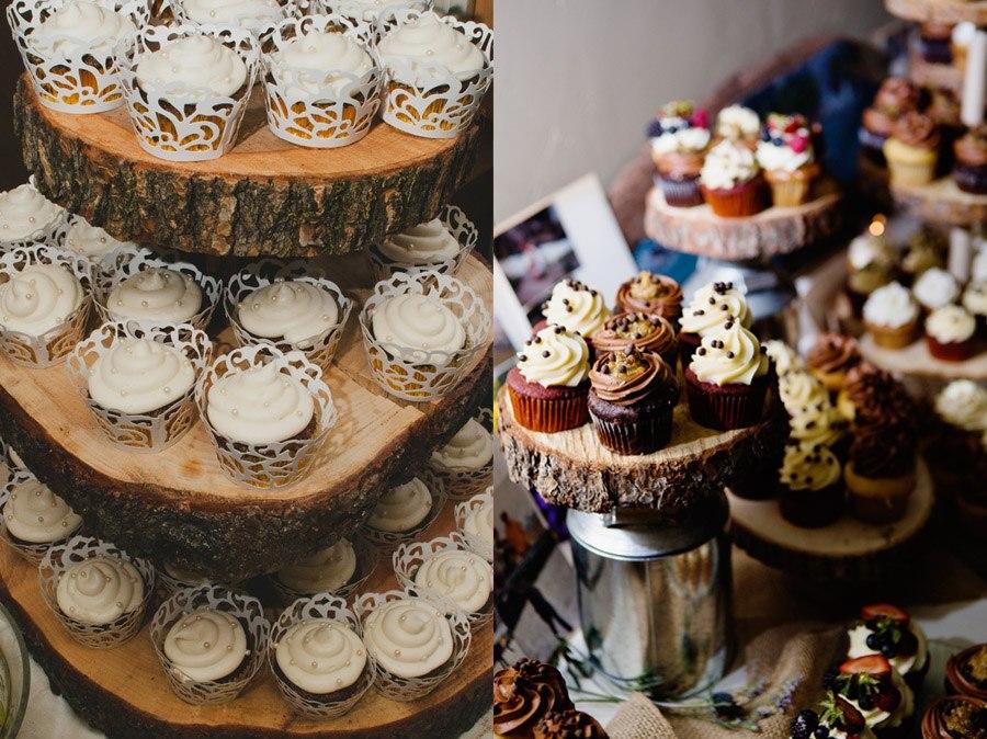 Decoraci n con bases de madera blog de bodas de una boda for Decoracion de madera