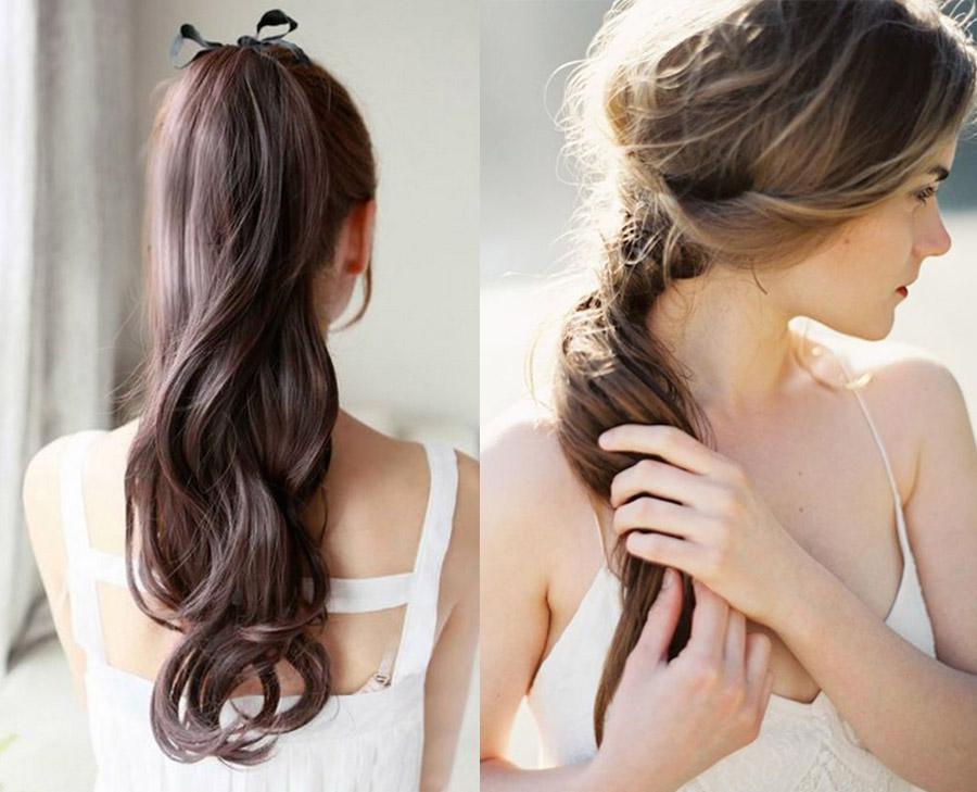 Lindo y sin esfuerzo peinados con coleta para boda Fotos de ideas de color de pelo - NOVIAS CON COLETA Y RECOGIDOS PARA BODAS - Blog de bodas ...