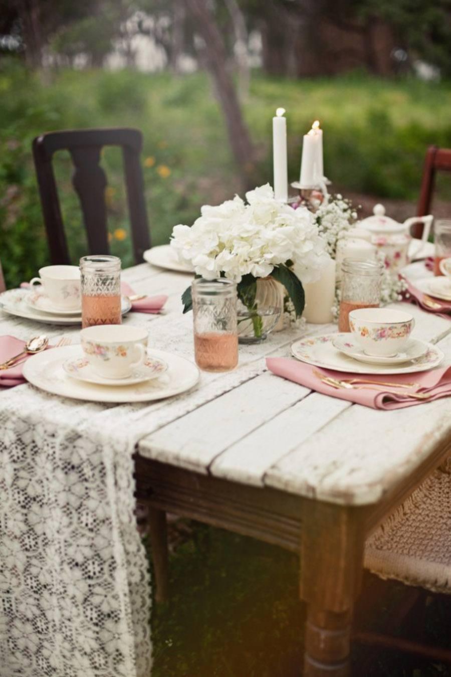 Caminos de mesa de encaje blog de bodas de una boda original for Caminos para mesas