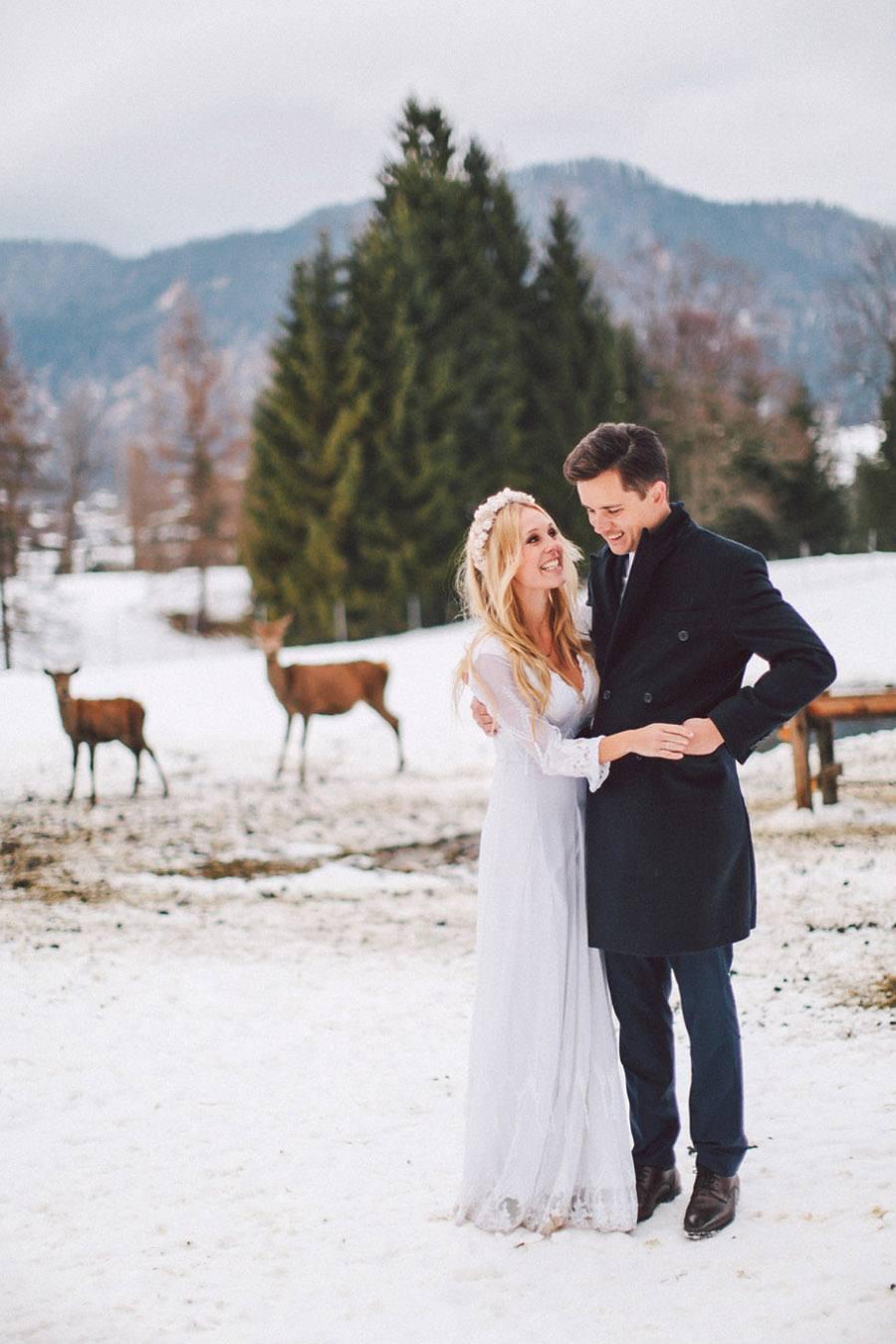 SARAH & IAN: BODA BOHEMIA EN LA NIEVE boda-bohemia
