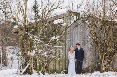 SARAH & IAN: BODA BOHEMIA EN LA NIEVE bodas-boho