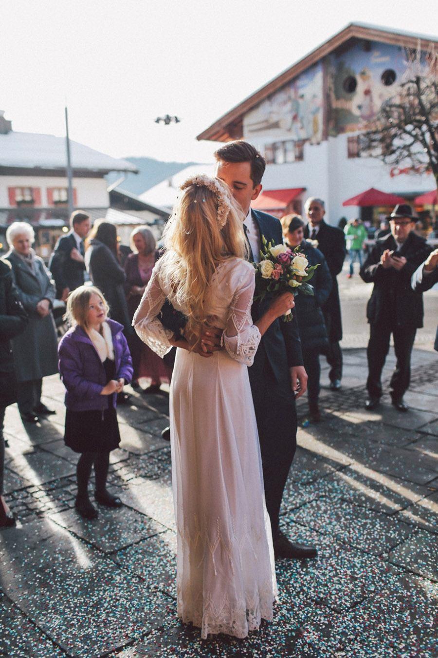 SARAH & IAN: BODA BOHEMIA EN LA NIEVE novia-bohemia