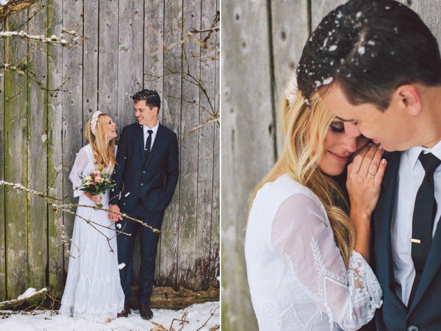 SARAH & IAN: BODA BOHEMIA EN LA NIEVE novia-boho