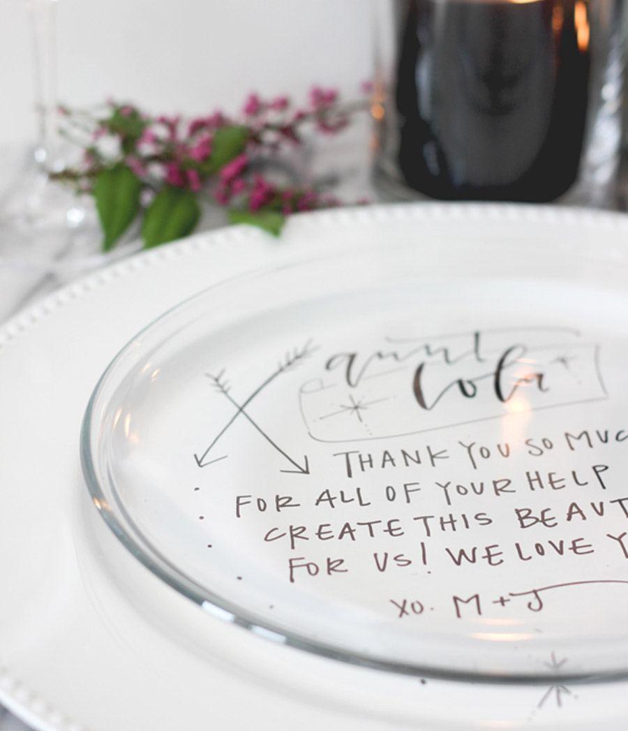 DIY: PLATOS PERSONALIZADOS PARA LOS INVITADOS diy-boda