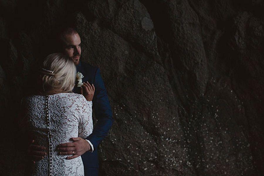 ROCHELLE & WALLY: BODA EN LA BAHÍA novia-en-el-mar