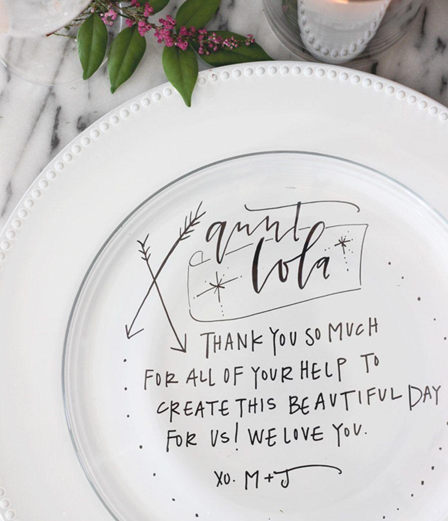 DIY: PLATOS PERSONALIZADOS PARA LOS INVITADOS tutoriales-boda