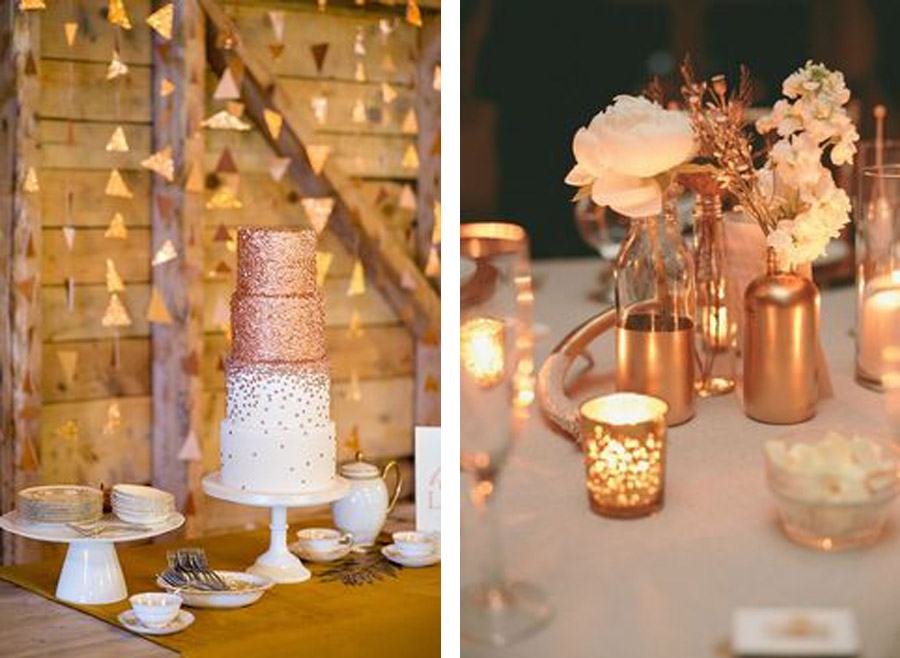 Decoraci n de boda en bronce blog de bodas de una boda for Blog de decoracion