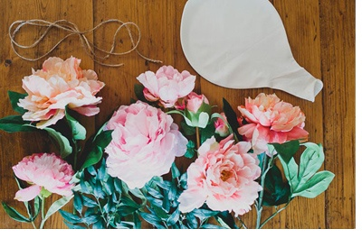 DIY: GLOBOS CON FLORES globo-flores