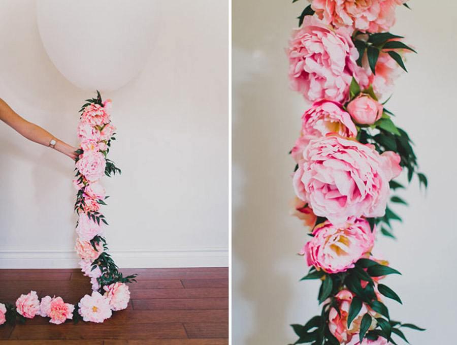 DIY: GLOBOS CON FLORES globos-para-boda