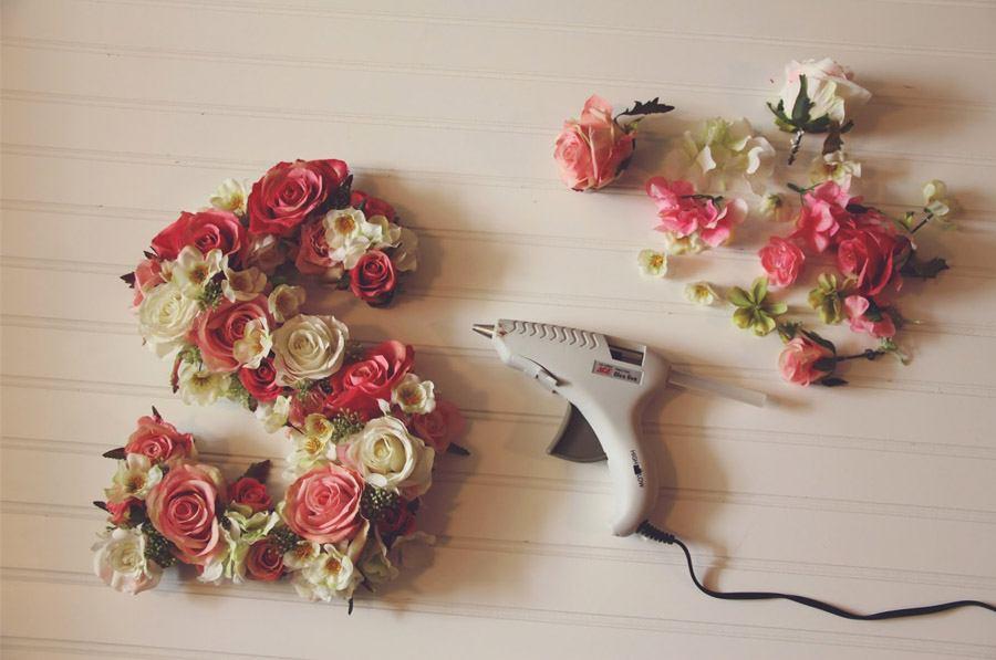 DIY: INICIALES CON FLORES inicial-flor