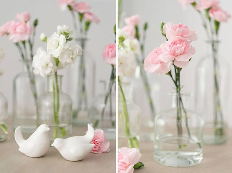 DIY CENTROS DE MESA PARA UNA BODA ROMNTICA Blog de bodas de Una