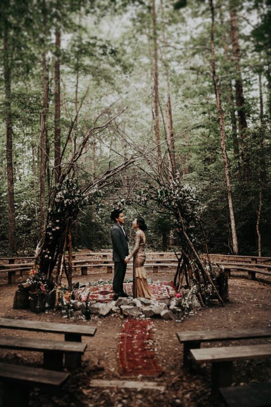 HANNAH & TAI: BODA CON SABOR SALVAJE bodas-bosque