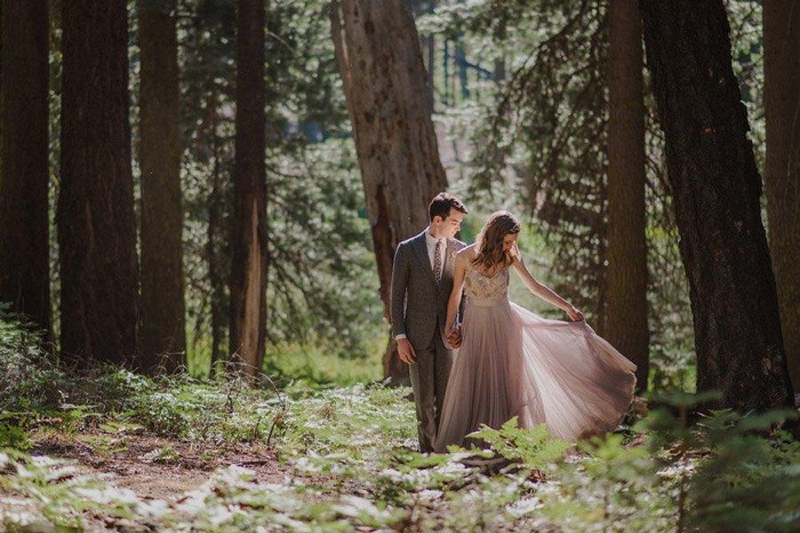 JULIA & JEFFREY: UNA SENCILLA BODA EN EL BOSQUE boda-picnic-bosque