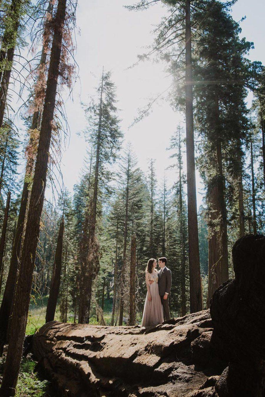 JULIA & JEFFREY: UNA SENCILLA BODA EN EL BOSQUE novios-bosque