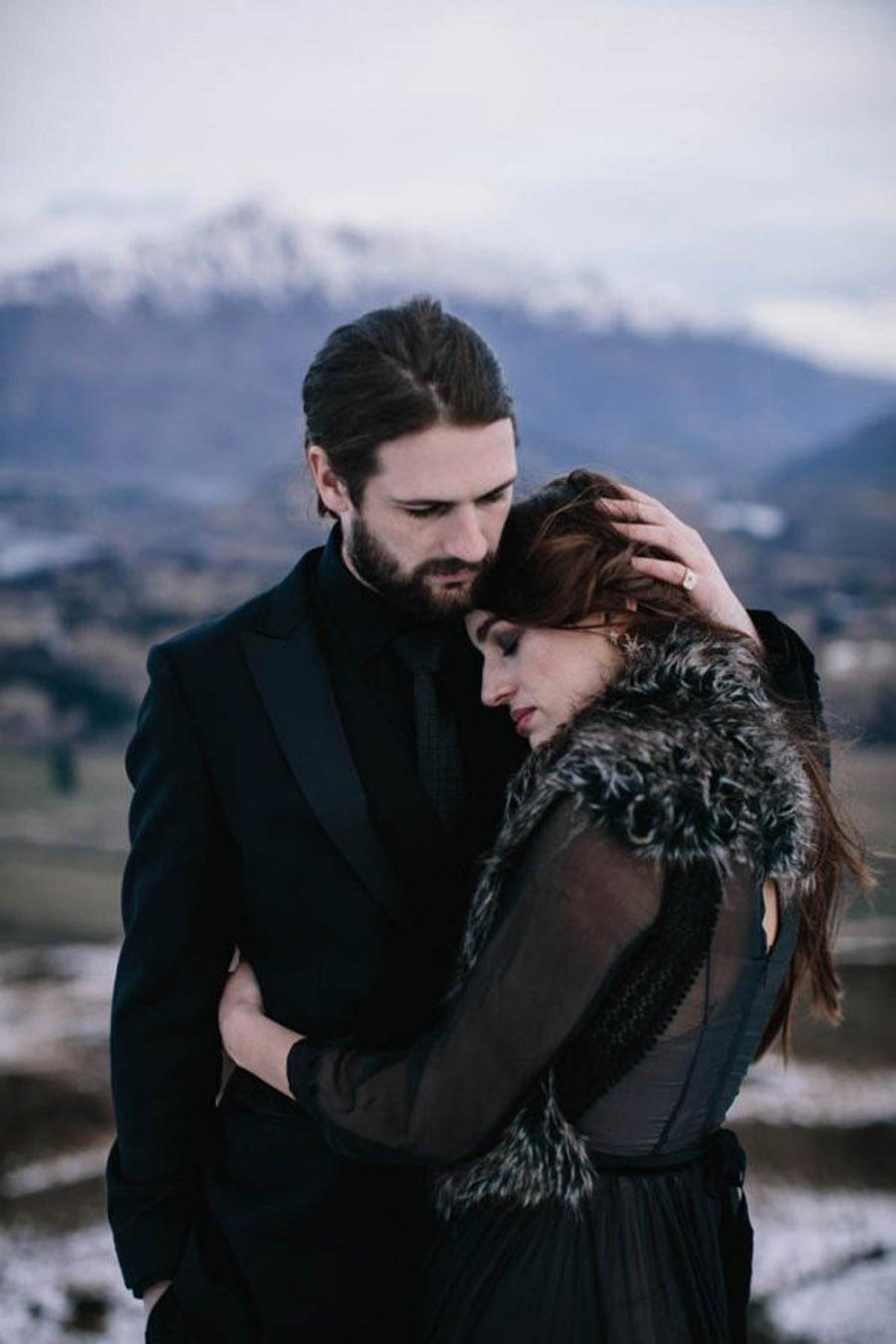 INSPIRACIÓN PARA UNA BODA DE INVIERNO boda-invierno-novios
