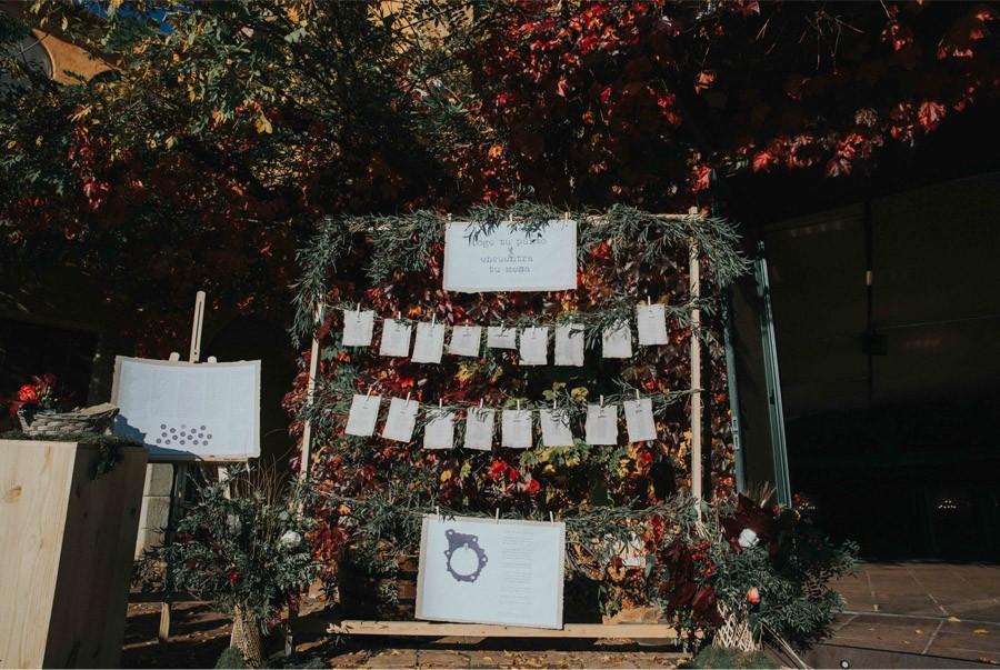 MARTA & ANDRÉS: DULCE BODA DE OTOÑO decoracion-boda-otoño