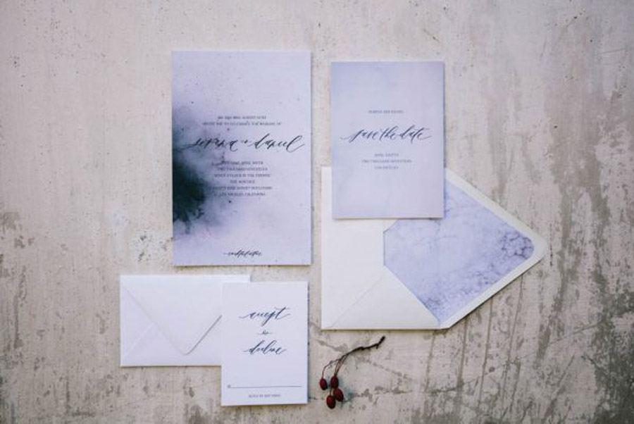 INSPIRACIÓN PARA UNA BODA DE INVIERNO invitaciones-boda-invierno