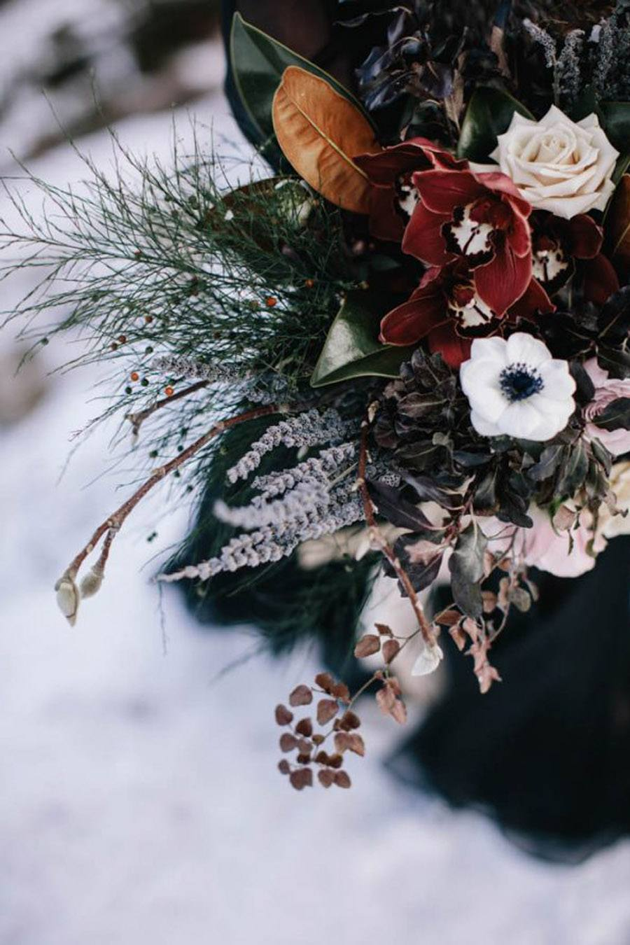 INSPIRACIÓN PARA UNA BODA DE INVIERNO ramo-novia-invierno