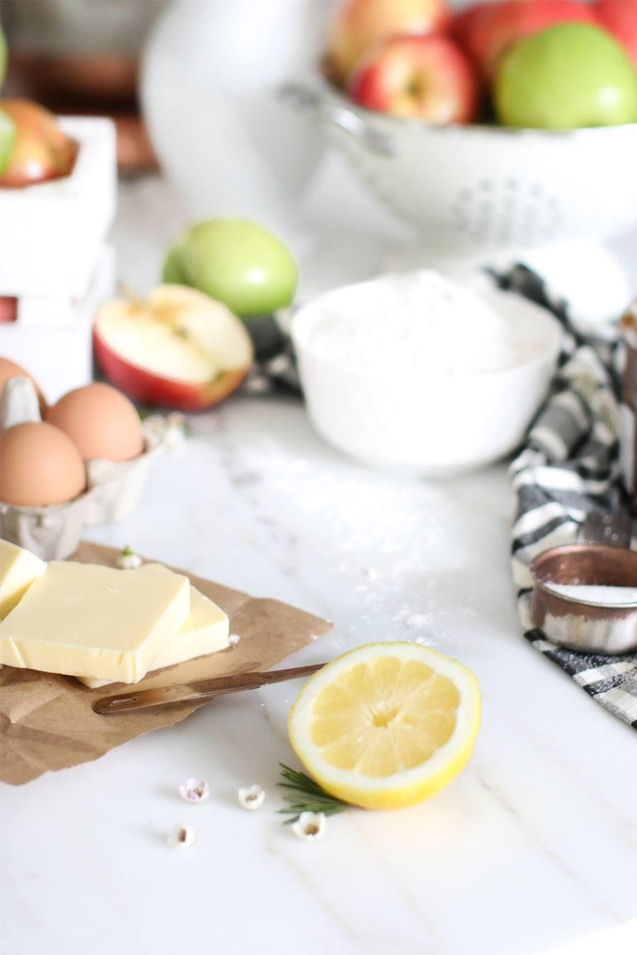 TARTA DE MANZANA CON FLORES tarta-receta