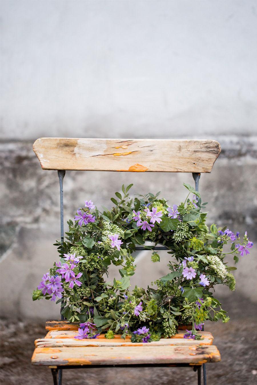 LAS CORONAS DE FLORES DE EL INVERNADERO corona-flores-boda