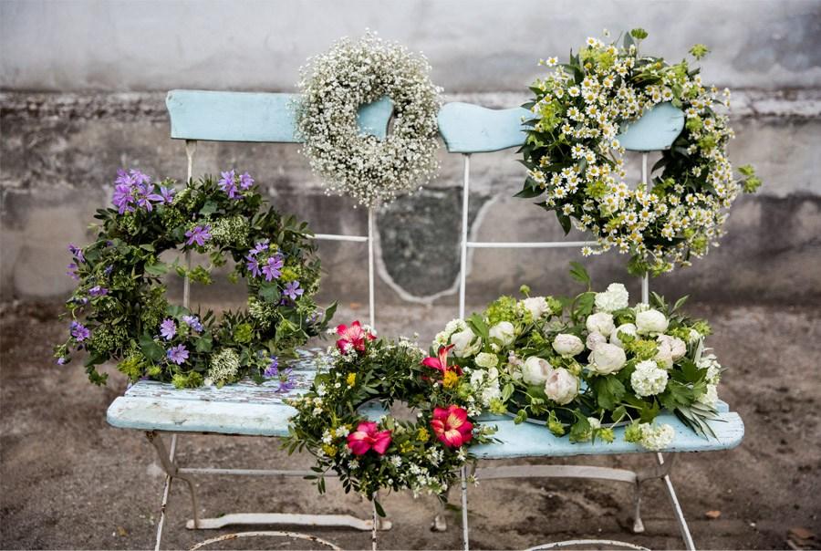 LAS CORONAS DE FLORES DE EL INVERNADERO coronas-de-flores