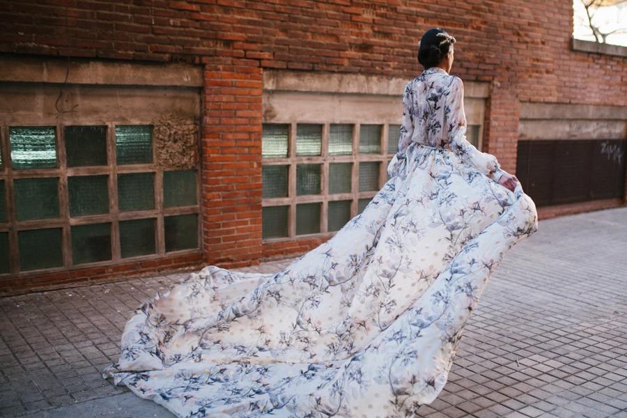UNA NOVIA ROMÁNTICA Y URBANA vestido-novia