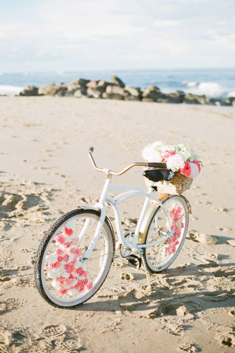 DIY: BICICLETA CON FLORES boda-bicicleta