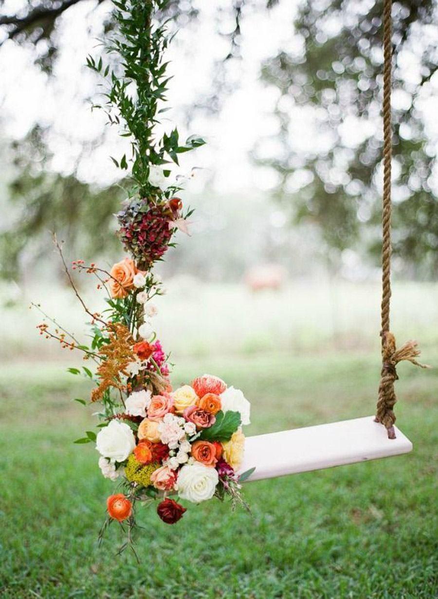 COLUMPIOS DE FLORES bodas-columpio