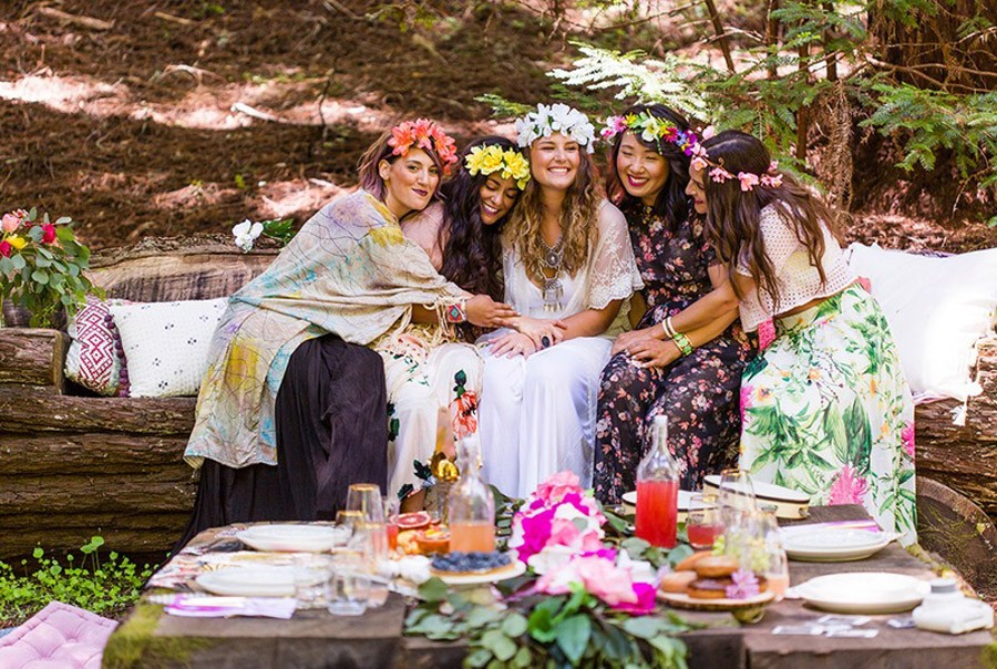 BOHO BRIDAL PARTY boho-decoracion