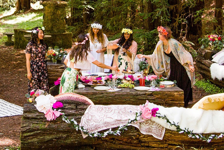 BOHO BRIDAL PARTY deco-boho
