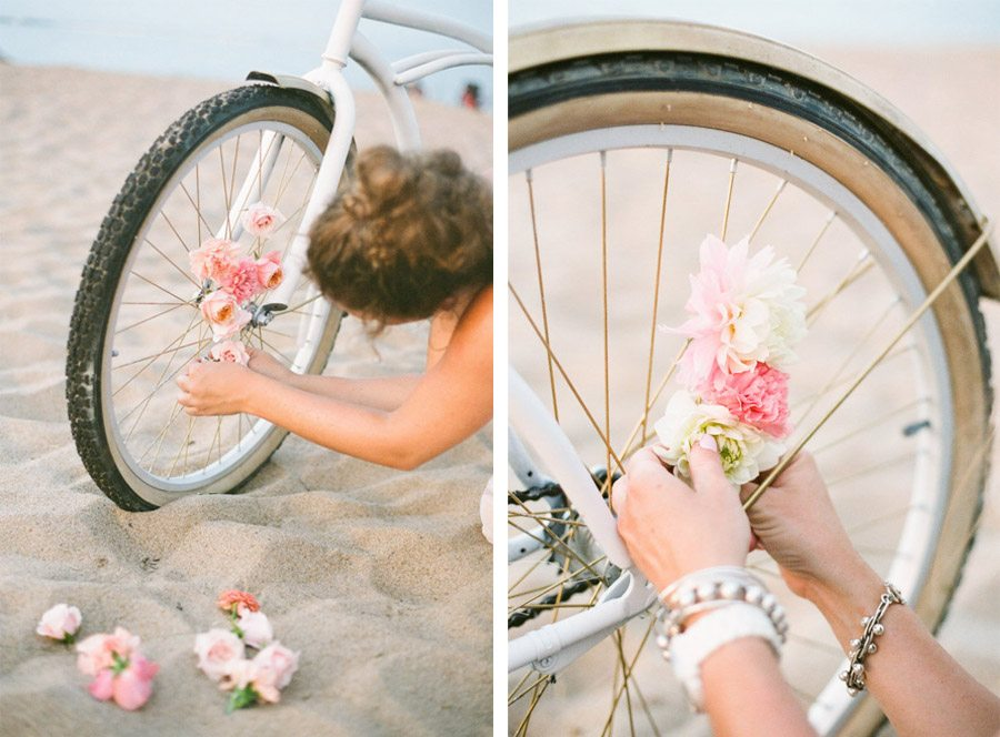 DIY: BICICLETA CON FLORES tutorial-bodas