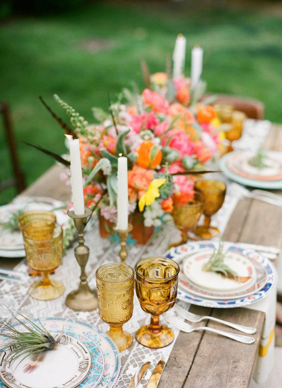 TENDENCIA: VASOS DE COLORES boda-vasos-de-colores