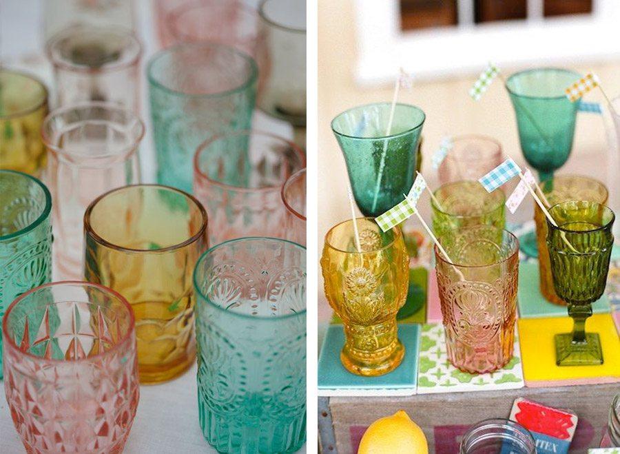TENDENCIA: VASOS DE COLORES bodas-vasos-colores