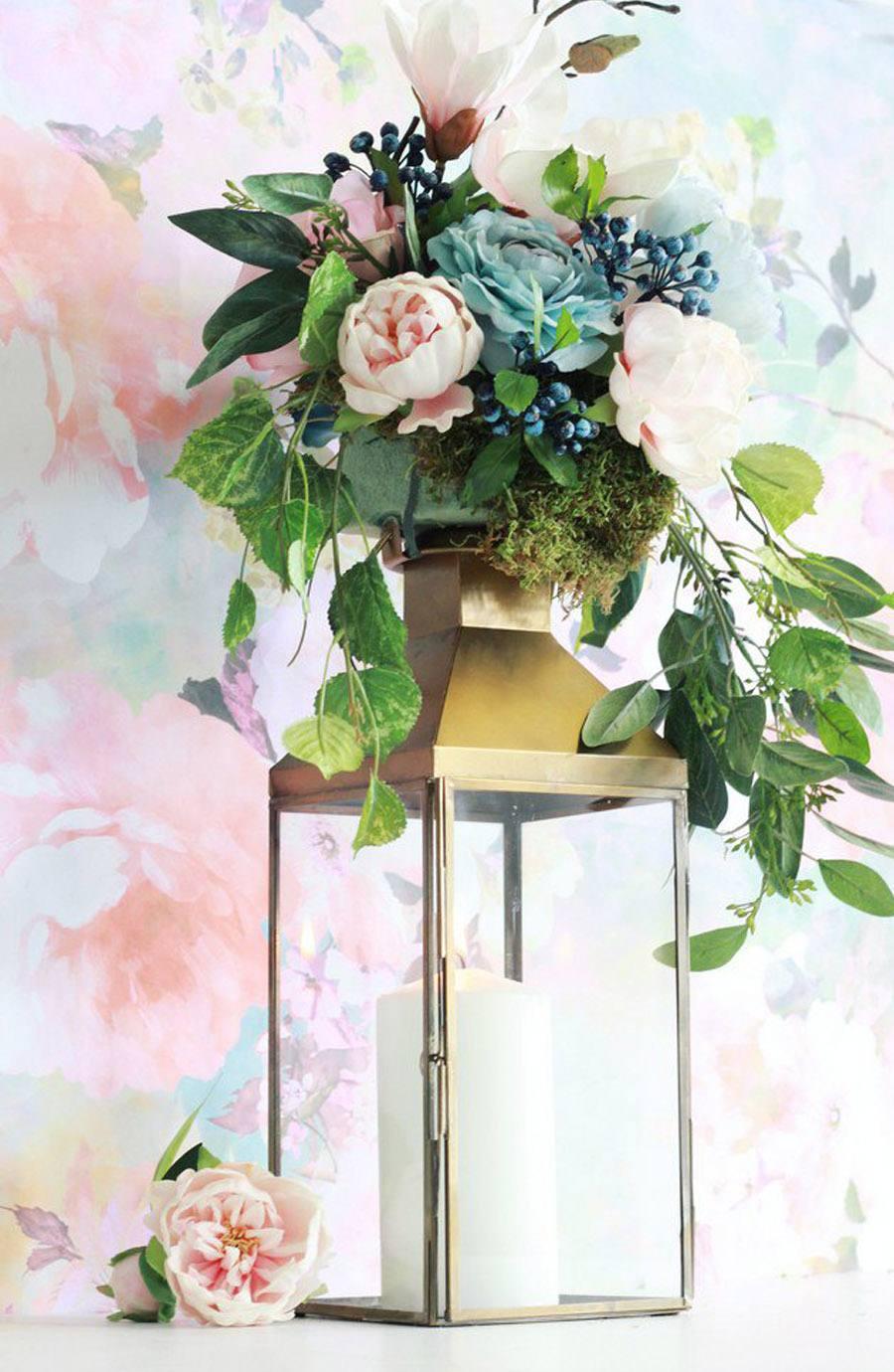 DIY: FAROL CON FLORES farola-flores