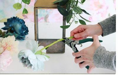 DIY: FAROL CON FLORES flores-farol