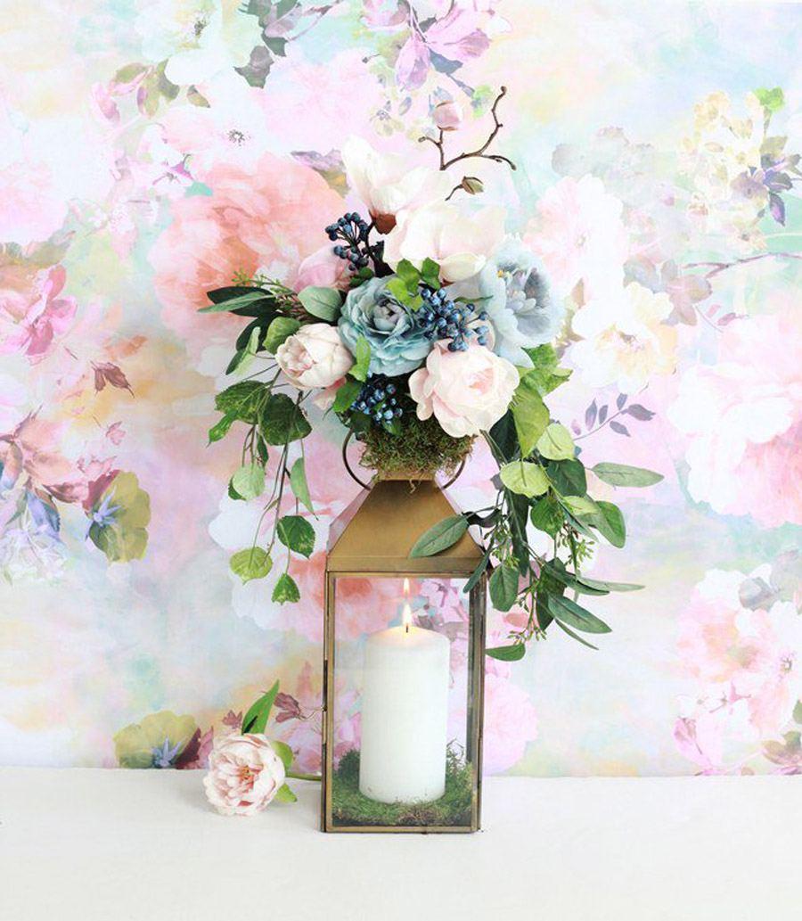 DIY: FAROL CON FLORES flores-farola