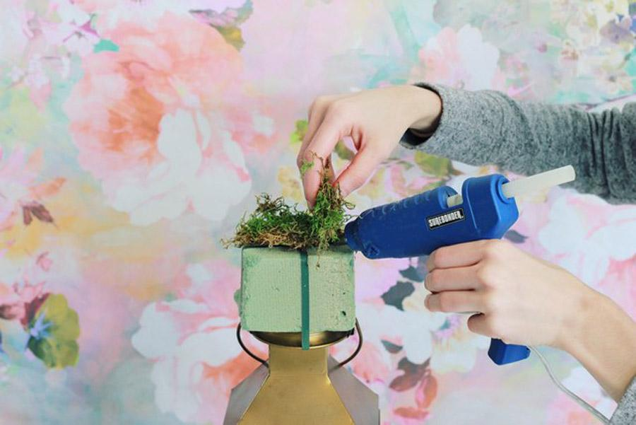 DIY: FAROL CON FLORES tutorial-decoracion