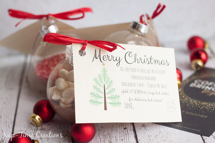 DIY: BOLAS DE NAVIDAD CON CHOCOLATE CALIENTE regalo-boda-invierno