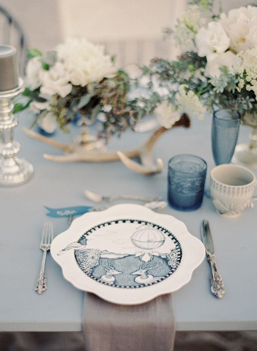 INSPIRACIÓN: AZUL OCÉANO vajilla-boda-azul