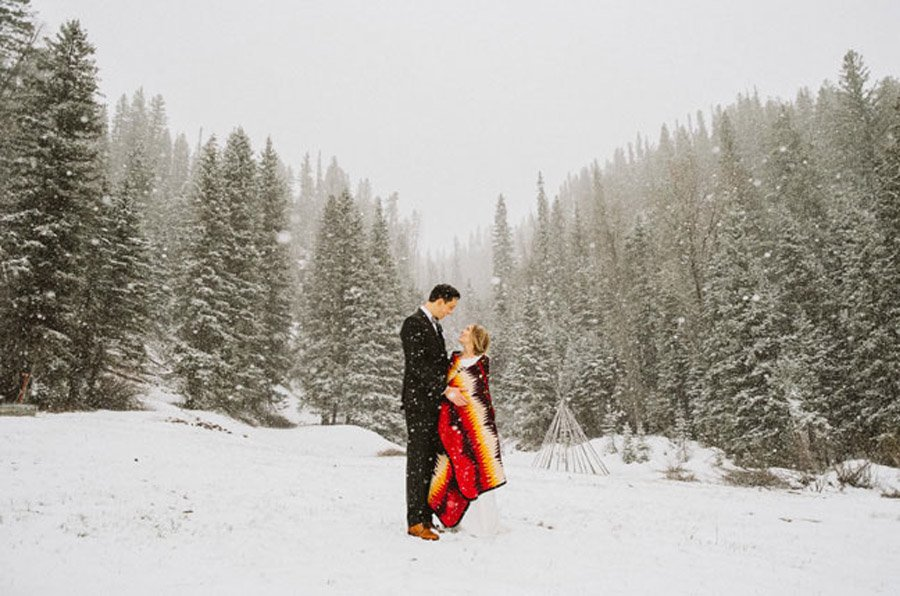 ÍNTIMA BODA DE INVIERNO boda-nieve