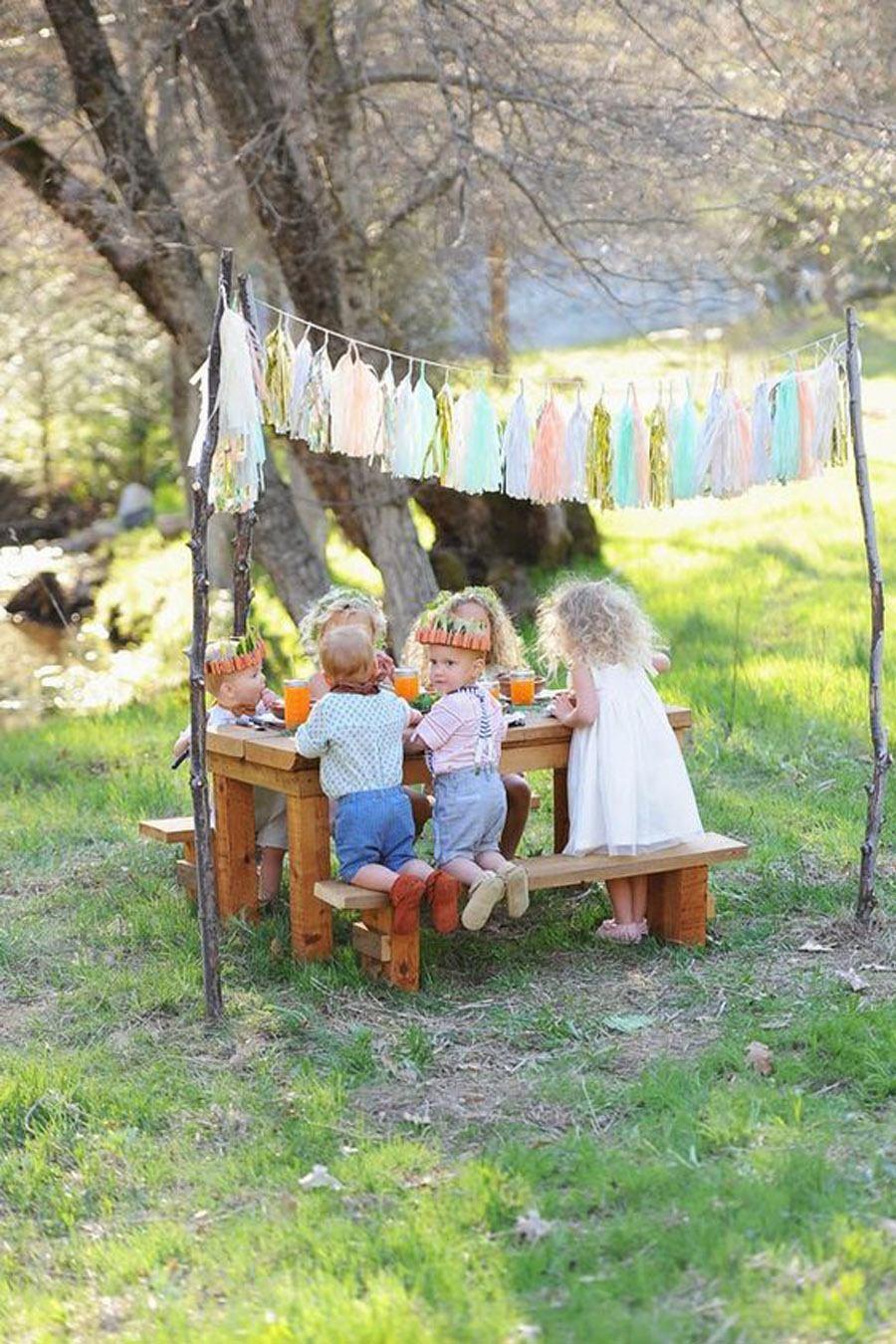 IDEAS PARA DECORAR LA MESA DE LOS NIÑOS boda-mesas-infantiles