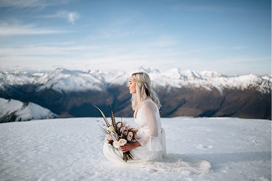 SESIÓN DE BODA EN ALTA MONTAÑA bodanieve1
