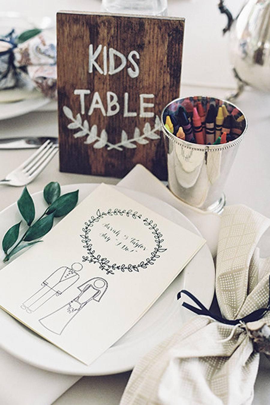 IDEAS PARA DECORAR LA MESA DE LOS NIÑOS bodas-mesa-niños