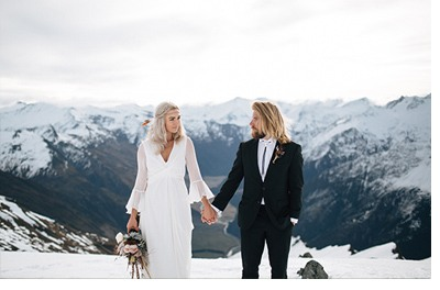 SESIÓN DE BODA EN ALTA MONTAÑA invierno-boda