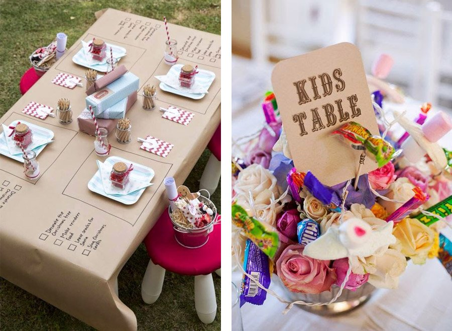 IDEAS PARA DECORAR LA MESA DE LOS NIÑOS mesas-niños-boda