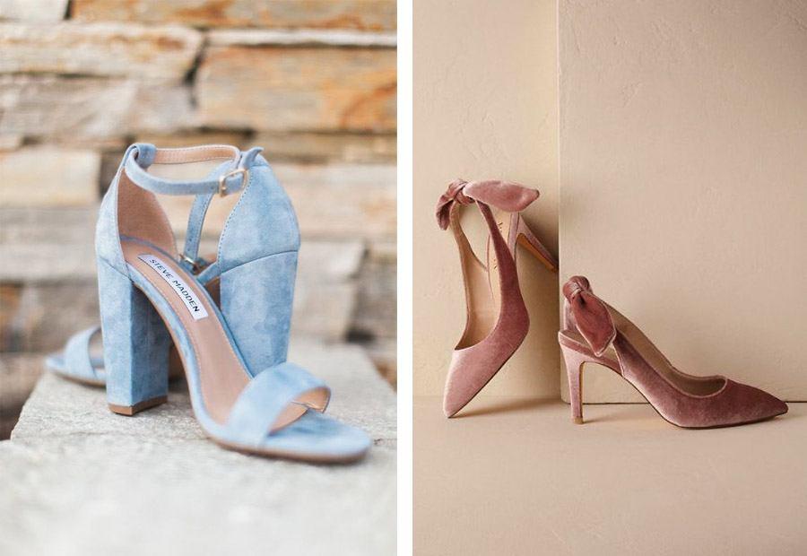 zapatos de novia de terciopelo - blog de bodas de una boda original