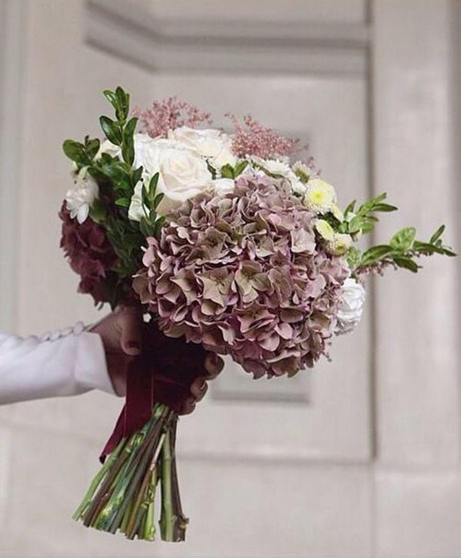 RAMOS DE NOVIA DE HORTENSIAS bouquet-hortensias