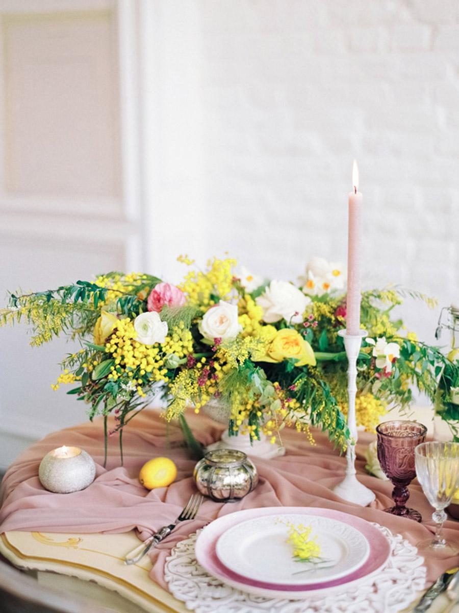 INSPIRACIÓN: MIMOSAS deco-mesa-mimosas